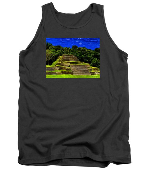 Mayan Temple Tank Top by Ken Frischkorn