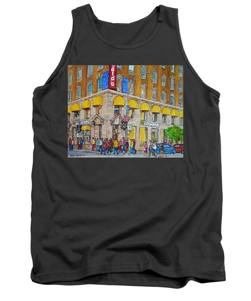 Mcdonald Restaurant Old Montreal Tank Top