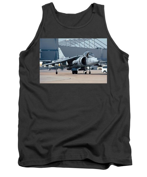Mcdonnell-douglas Av-8b Harrier Buno 164119 Of Vma-211 Taxiing Mcas Miramar October 18 2003 Tank Top