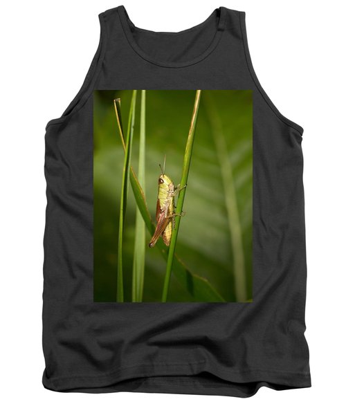 Tank Top featuring the photograph Meadow Grasshopper by Jouko Lehto