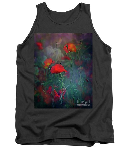 Meadow In Another Dimension Tank Top by Agnieszka Mlicka