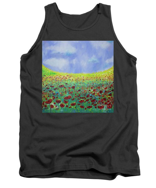 Meadow Of Poppies  Tank Top