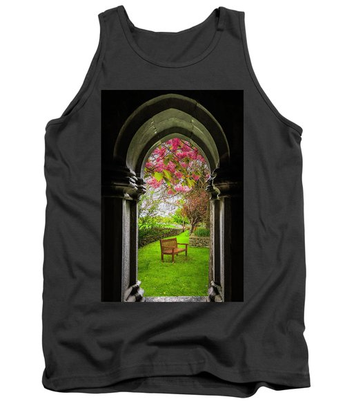 Tank Top featuring the photograph Medieval Abbey In Irish Spring by James Truett