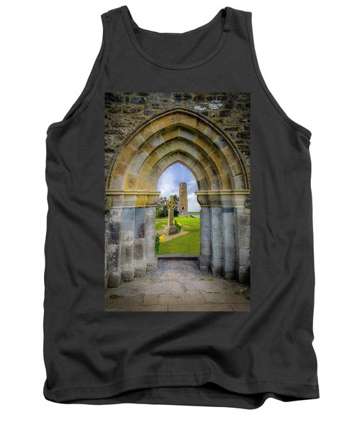 Tank Top featuring the photograph Medieval Irish Countryside by James Truett