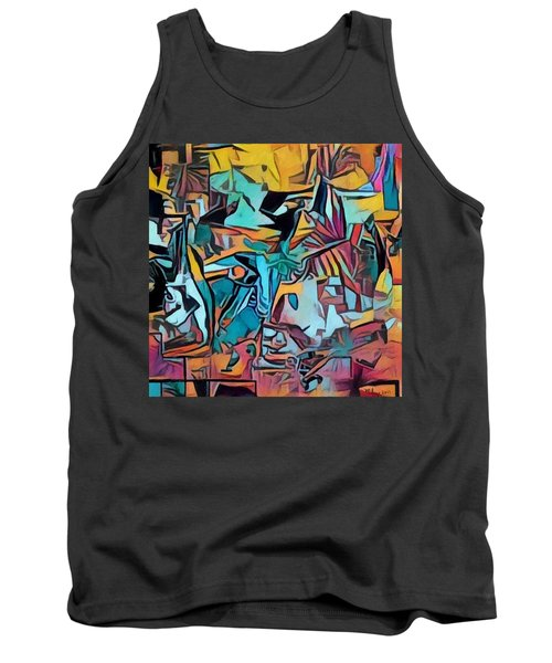 Meditating On And Contemplating Abstract Art Creates A Space Of Pure Perception Where Hope And Fear  Tank Top