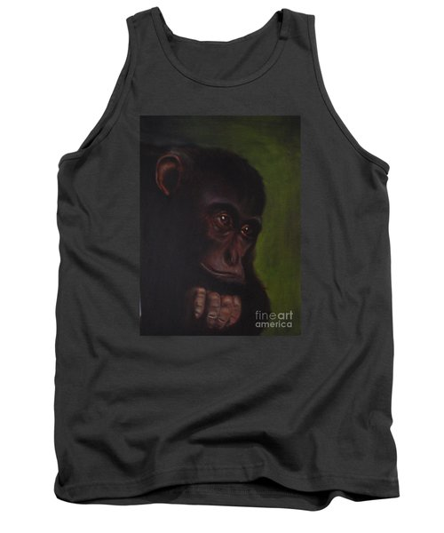 Tank Top featuring the painting Meditation by Annemeet Hasidi- van der Leij