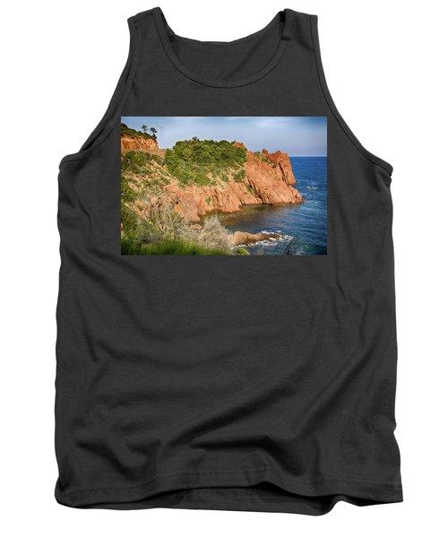 Mediterranean French Coastline Tank Top