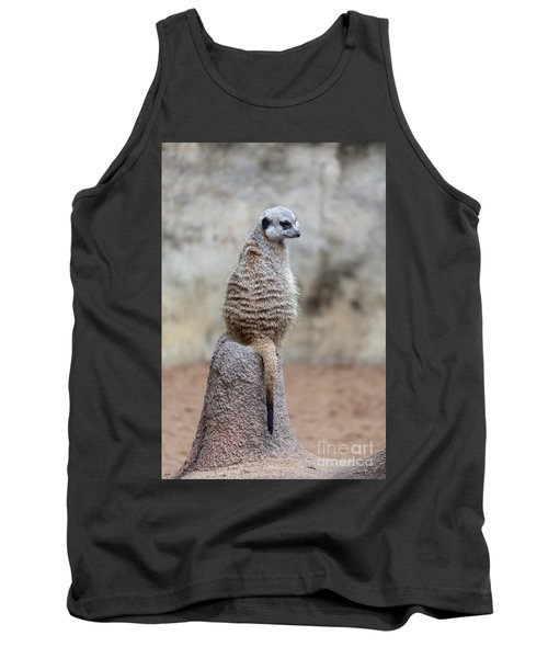 Meerkat Sitting And Looking Right Tank Top