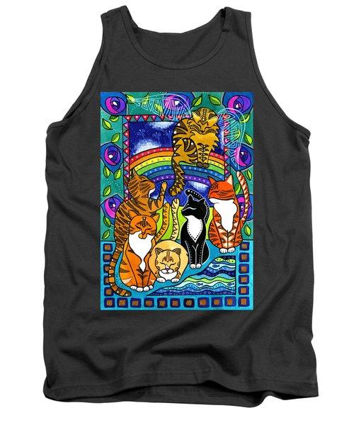 Meet Me At The Rainbow Bridge - Cat Painting Tank Top