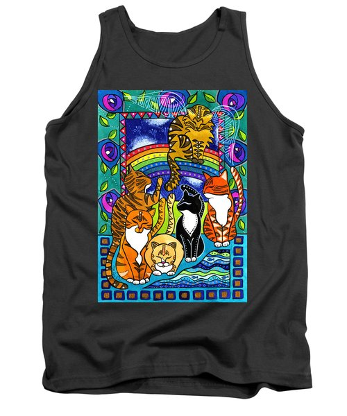 Meet Me At The Rainbow Bridge - Cat Painting Tank Top