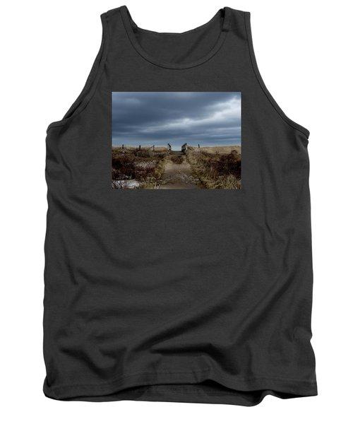 Tank Top featuring the photograph Melmerby Beach Boardwalk by Kathleen Sartoris