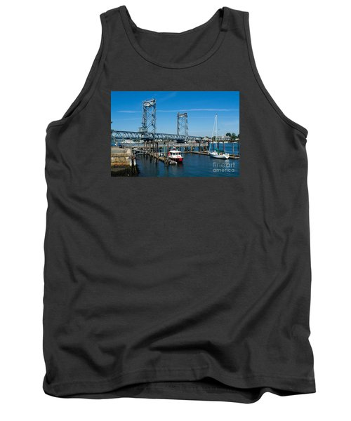 Memorial Bridge Portsmouth Tank Top by Kevin Fortier
