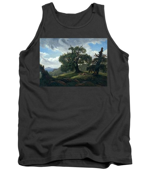 Memory Of A Wooded Island In The Baltic Sea. Oak Trees By The Sea  Tank Top