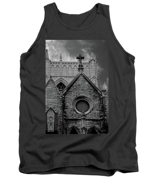 Memphis Cross In The Clouds Bw Tank Top