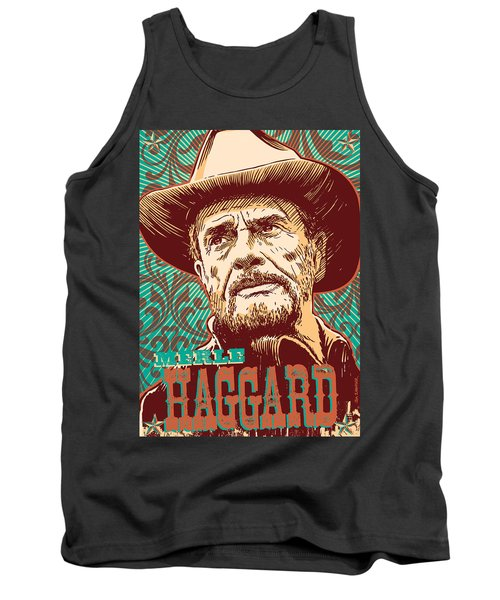 Merle Haggard Pop Art Tank Top