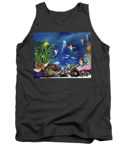 Mermaid Recess Tank Top by Carol Sweetwood