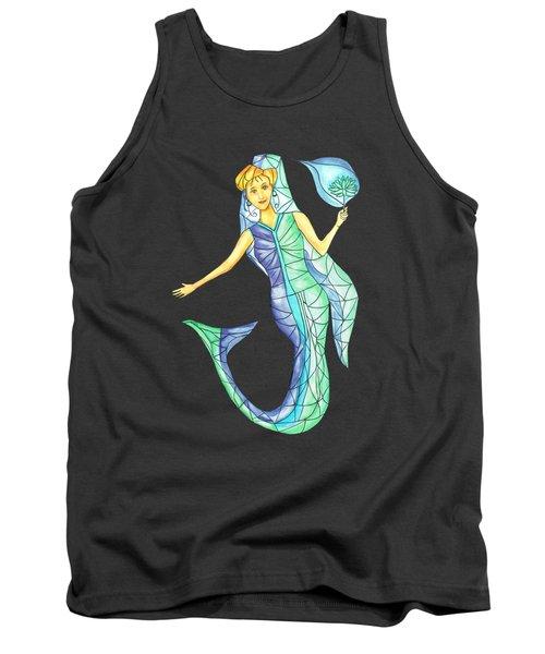 Mermaid Stories B Tank Top by Thecla Correya