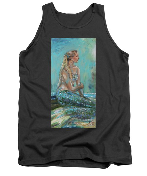Mermaid Sunning On Shore Tank Top