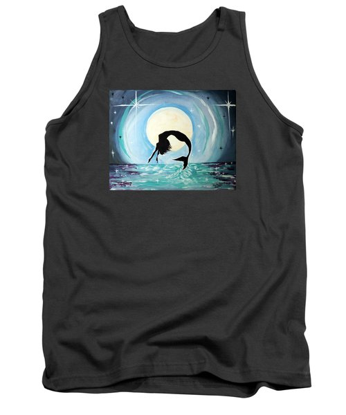 Tank Top featuring the painting Mermaid by Tom Riggs