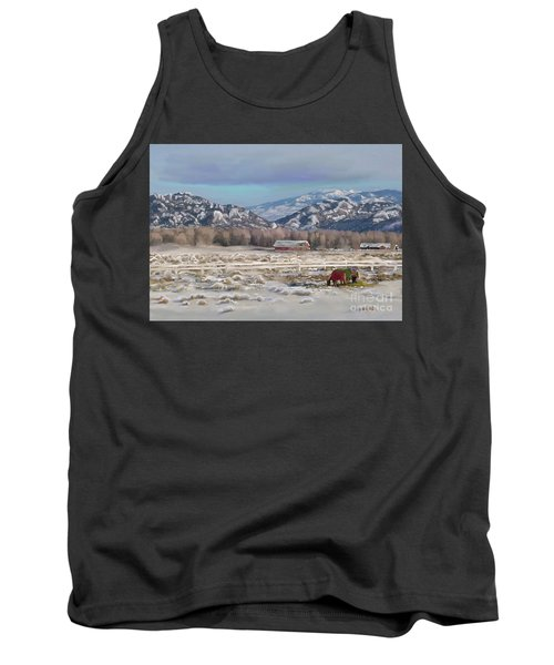 Merry Christmas From Wyoming Tank Top by Dawn Senior-Trask