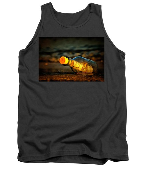 Tank Top featuring the painting Message In A Bottle by Harry Warrick