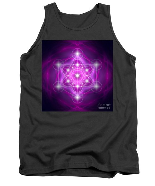 Metatron's Cube Purple Tank Top