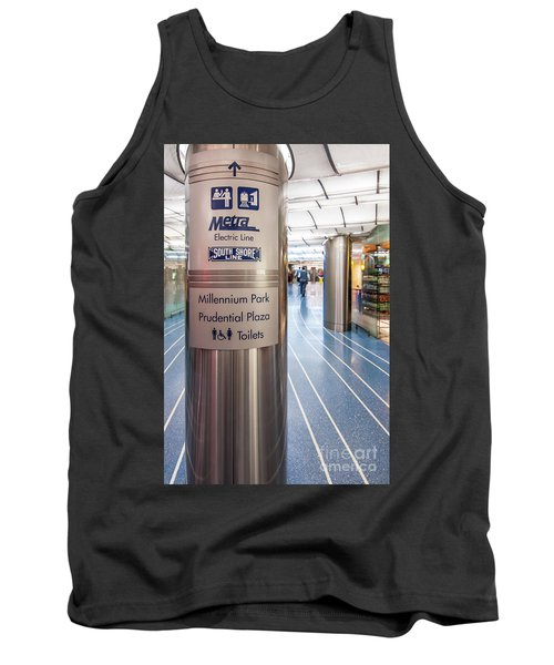 Metra Electric Line Column Sign Tank Top