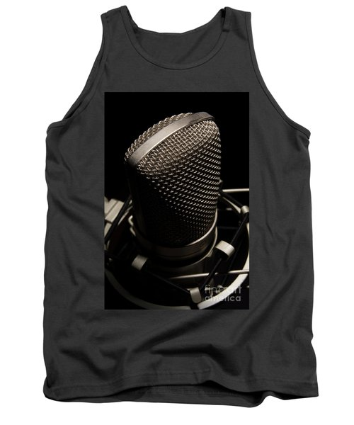 Mic Tank Top by Brian Jones