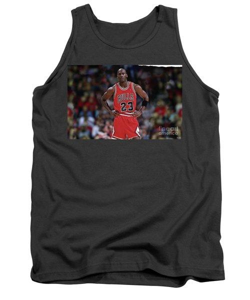 Michael Jordan, Number 23, Chicago Bulls Tank Top by Thomas Pollart