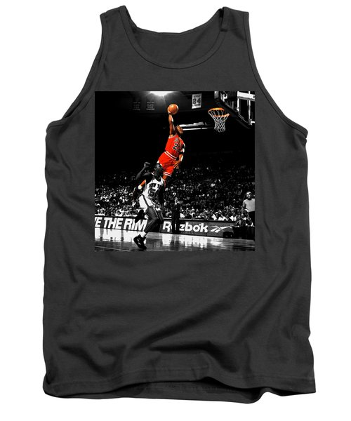 Michael Jordan Suspended In Air Tank Top