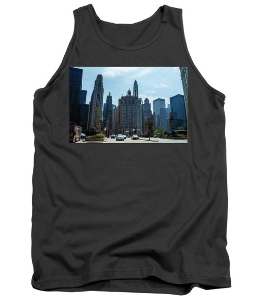 Michigan Avenue Bridge And Skyline Chicago Tank Top