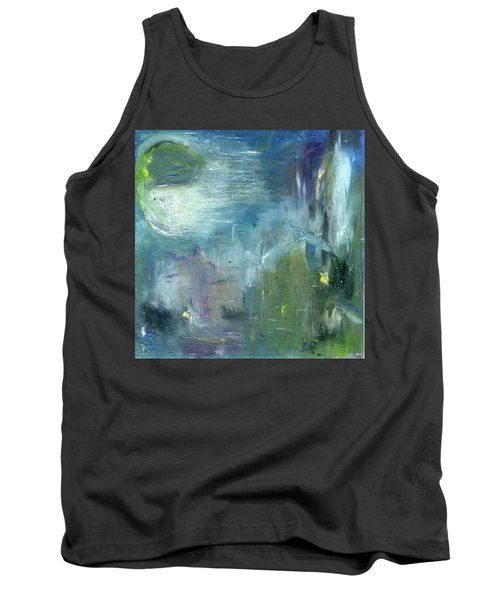 Tank Top featuring the painting Mid-day Reflection by Michal Mitak Mahgerefteh