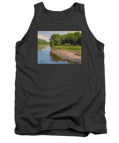 Mid Summer Prairie Stream Tank Top by Bruce Morrison