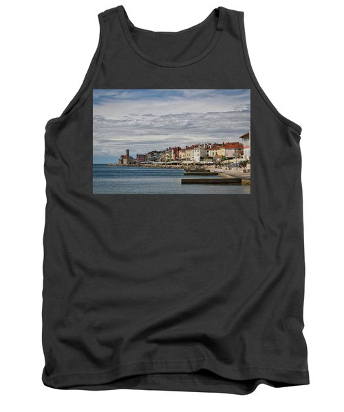 Tank Top featuring the photograph Midday In Piran - Slovenia by Stuart Litoff
