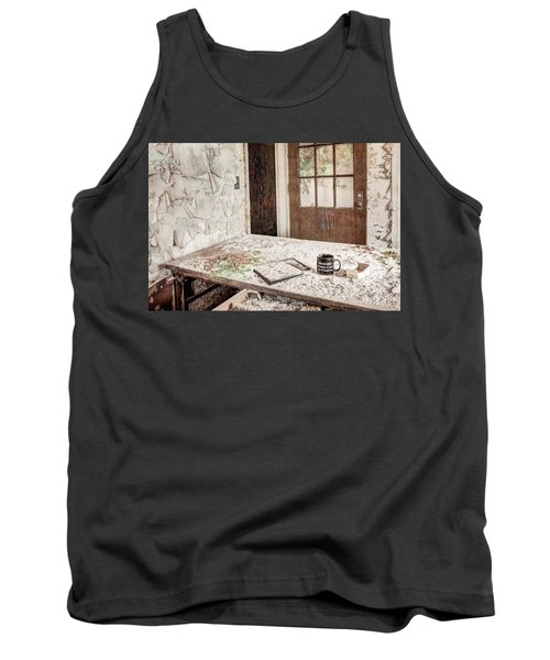 Tank Top featuring the photograph Midlife Crisis In Progress - Abandoned Asylum by Gary Heller