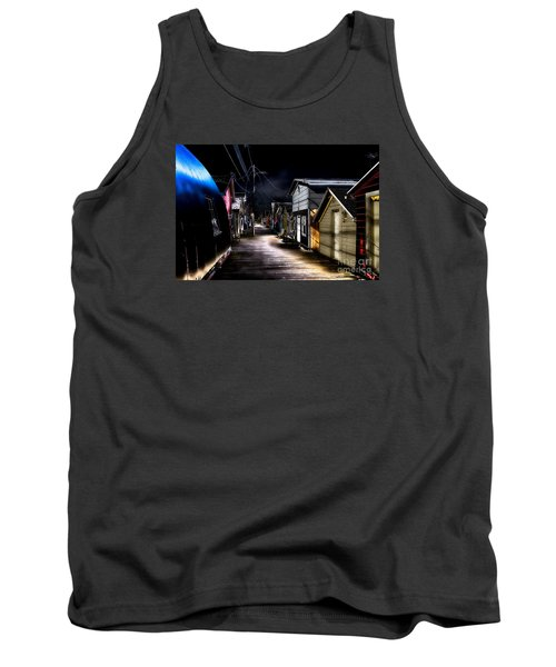 Midnight At The Boathouse Tank Top by William Norton