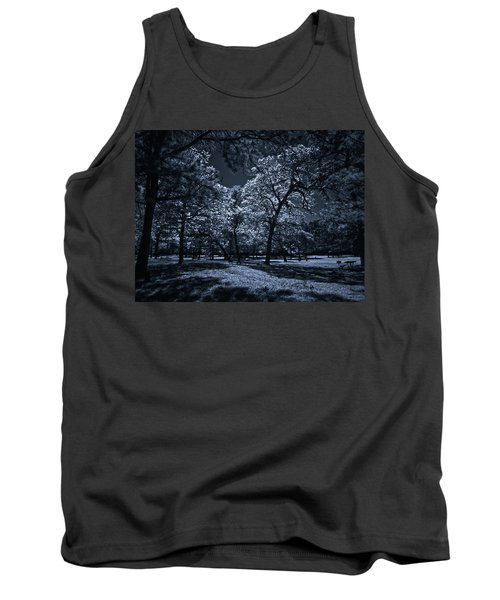Tank Top featuring the photograph Midnight Blues by Linda Unger