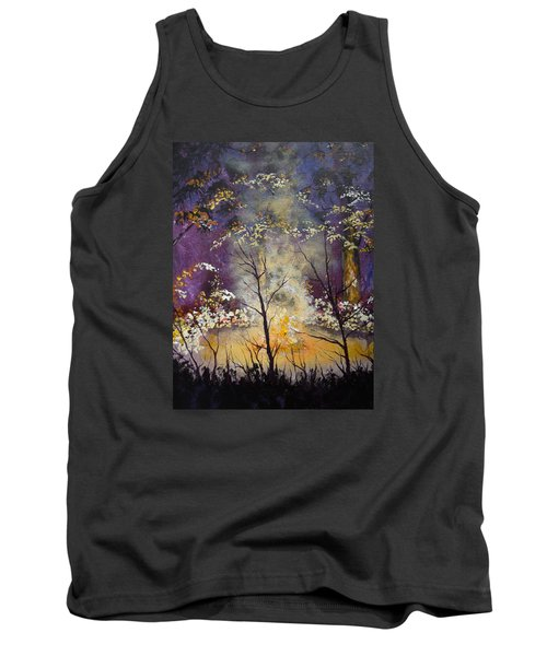 Midnight Campsite Tank Top by Dan Whittemore
