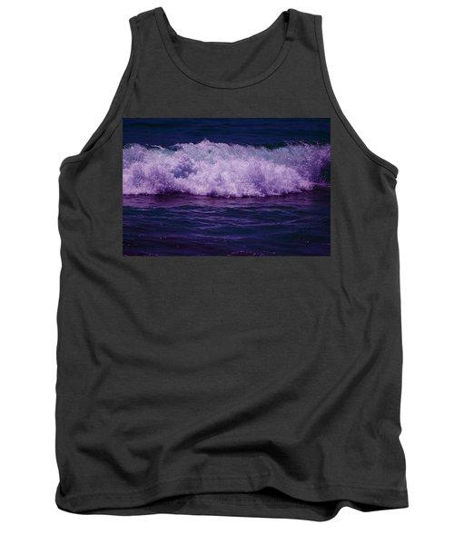 Midnight Ocean Wave In Ultra Violet Tank Top
