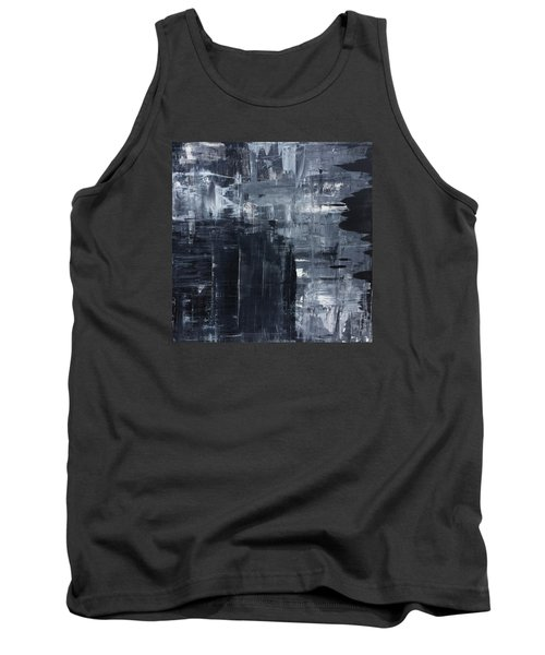 Midnight Shades Of Gray - 48x48 Huge Original Painting Art Abstract Artist Tank Top