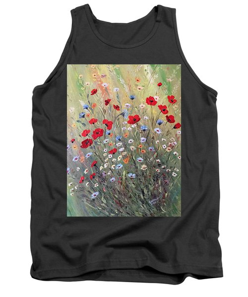 Midsummer Poppies Tank Top by Dorothy Maier
