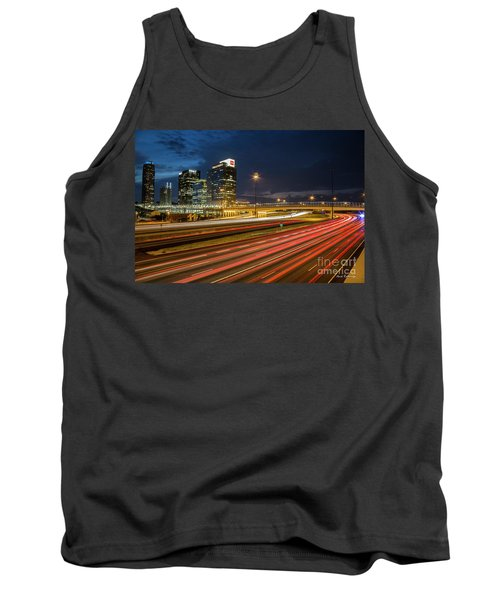 Midtown Nite Lights Time Lapse Photography Atlanta Georgia Art  Tank Top