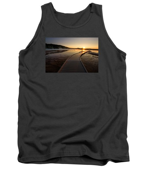 Tank Top featuring the photograph Midway Basin Sunset by Dan Mihai