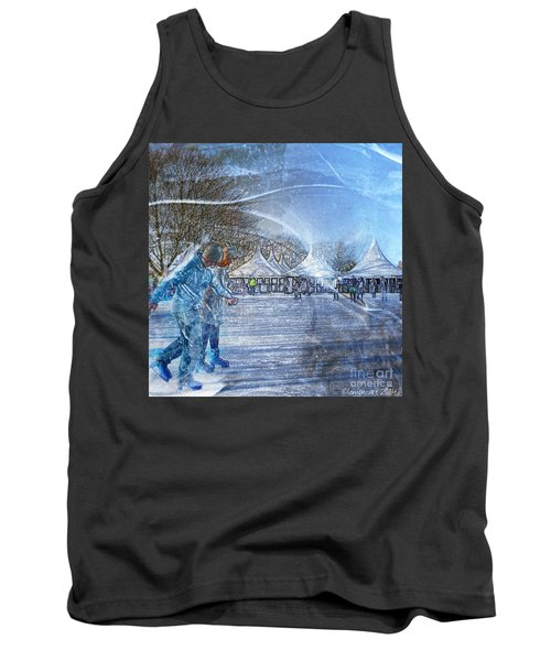 Tank Top featuring the photograph Midwinter Blues by LemonArt Photography
