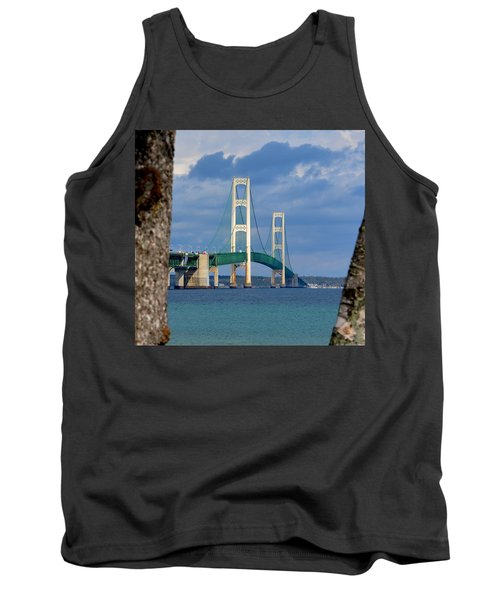 Mighty Mac Framed By Trees Tank Top by Keith Stokes