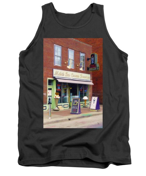 Tank Top featuring the painting Mike's Ice Cream Fountain by Sandy MacGowan