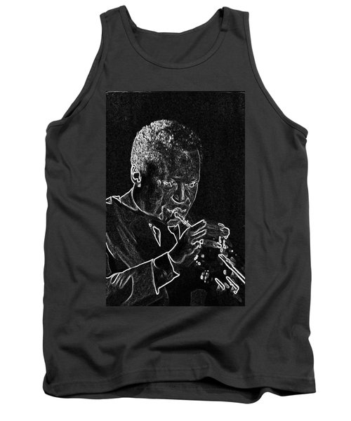 Miles Davis Tank Top by Charles Shoup