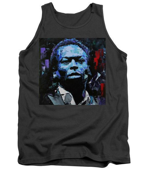 Tank Top featuring the painting Miles Davis by Richard Day