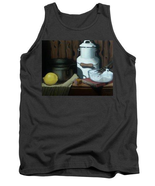 Tank Top featuring the painting Milk Jug Meringue by Susan Roberts
