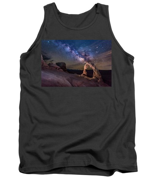 Milky Way And Delicate Arch Tank Top